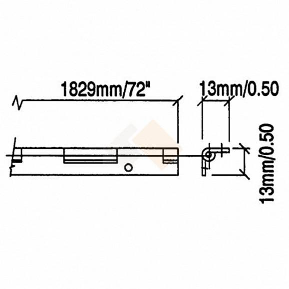 Vaak P1321Pn | Smal pianoscharnier, 1 mm dik | Zelfbouwcase.nl GX64